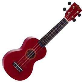 Mahalo Soprano Ukulele rainbow-Red available at Penarth Music Centre