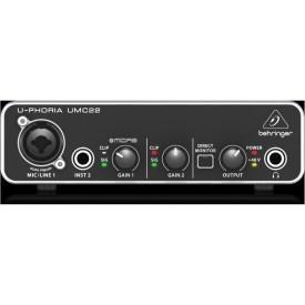 Behringer UMC22 U-phoria Audio Interface available at Penarth Music Centre