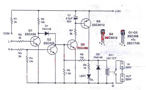 circuit diagram of 2 level water pump