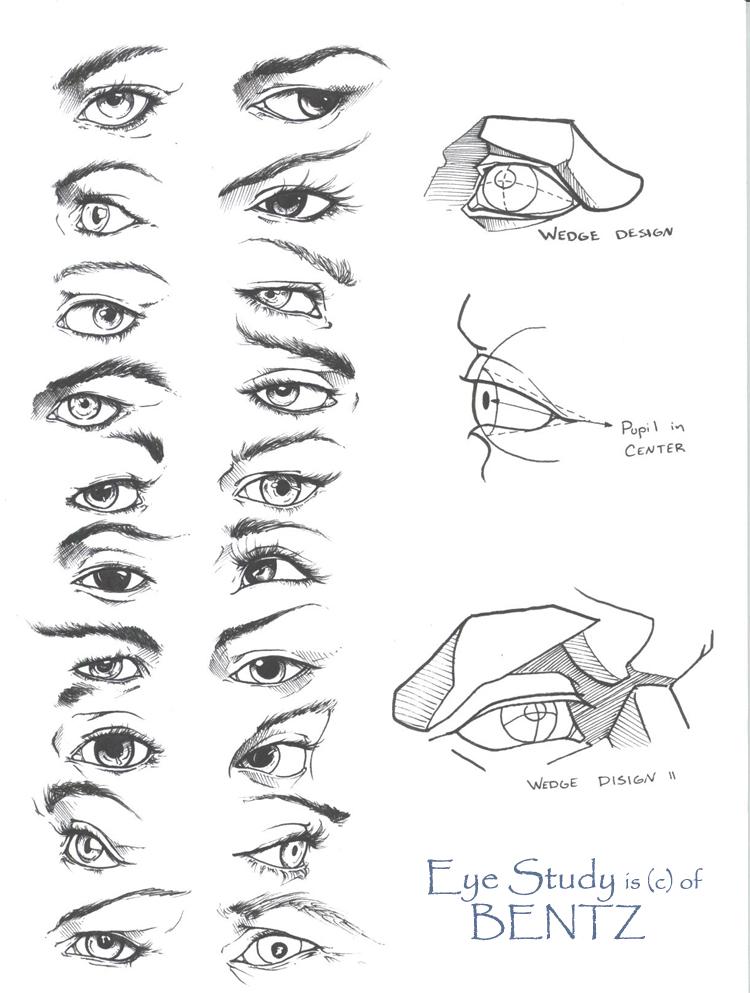 eye drawing tutorial by sariel - EYE STUDY by Sariel367 - Eye drawing tutorial by Sariel