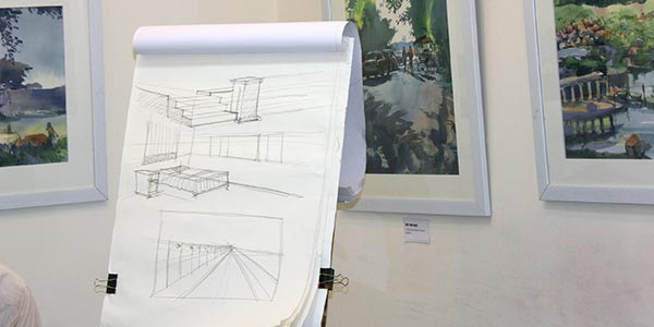 Learn Architectural sketching fine arts courses - Learn prespective sketching with pencil and chai - Fine Arts Courses Offered by Pencil And Chai