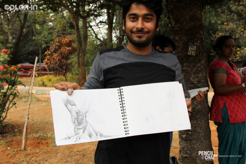 Outdoor Realistic Painting Classes in Bangalore_Pencil And Chai outdoor realistic painting classes - Weekend Art Classes In Banaglore  434909809 - Outdoor Realistic Painting Classes