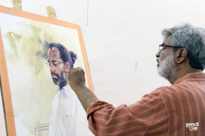 IMG_2631 painting workshop - IMG 2631 - Hues of Watercolor 6 Painting Workshop in bangalore-Vasudeo Kamath