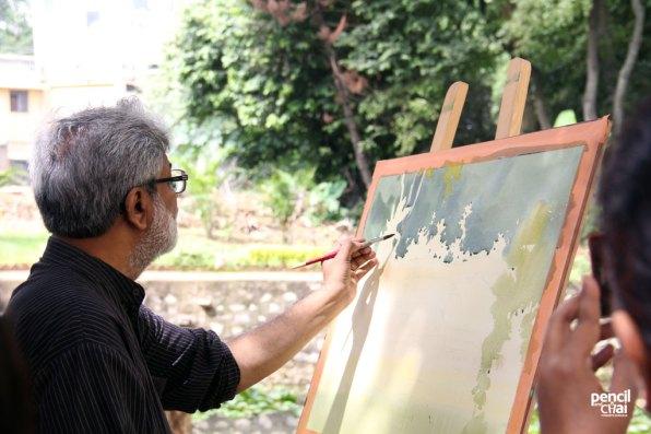 IMG_2832 painting workshop - IMG 2832 - Hues of Watercolor 6 Painting Workshop in bangalore-Vasudeo Kamath
