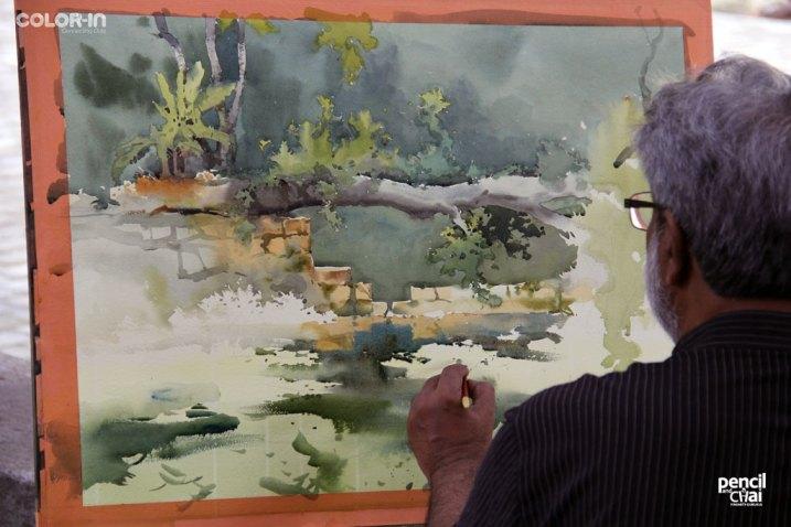 watercolor painting classes painting workshop - IMG 2896 - Hues of Watercolor 6 Painting Workshop in bangalore-Vasudeo Kamath