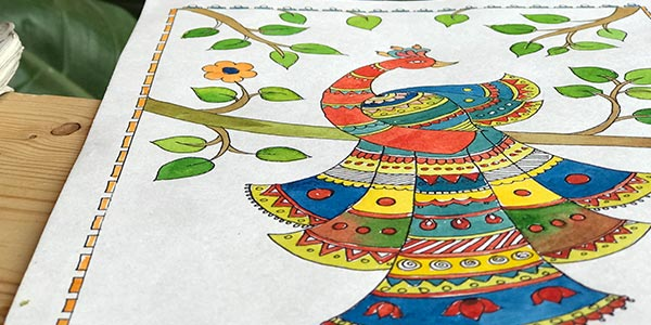 Madhubani-Painting-Classes-in-Bangalore madhubani painting classes - Madhubani Painting Classes in Bangalore - Madhubani Painting Classes by Pencil And Chai