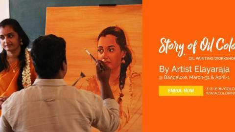 Oil Painting Workshop by S.Elayaraja – Story of Oil Color 4 weekend art classes - Story of Oil Color 4 Oil Painting workshop in Bangalore 480x270 - Weekend Art Classes in Bangalore : Pencil & Chai Fine Arts Gurukul