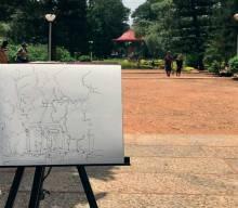 Plein Air Sketching weekend art classes - Plein Air Sketching 220x192 - Weekend Art Classes in Bangalore : Pencil & Chai Fine Arts Gurukul