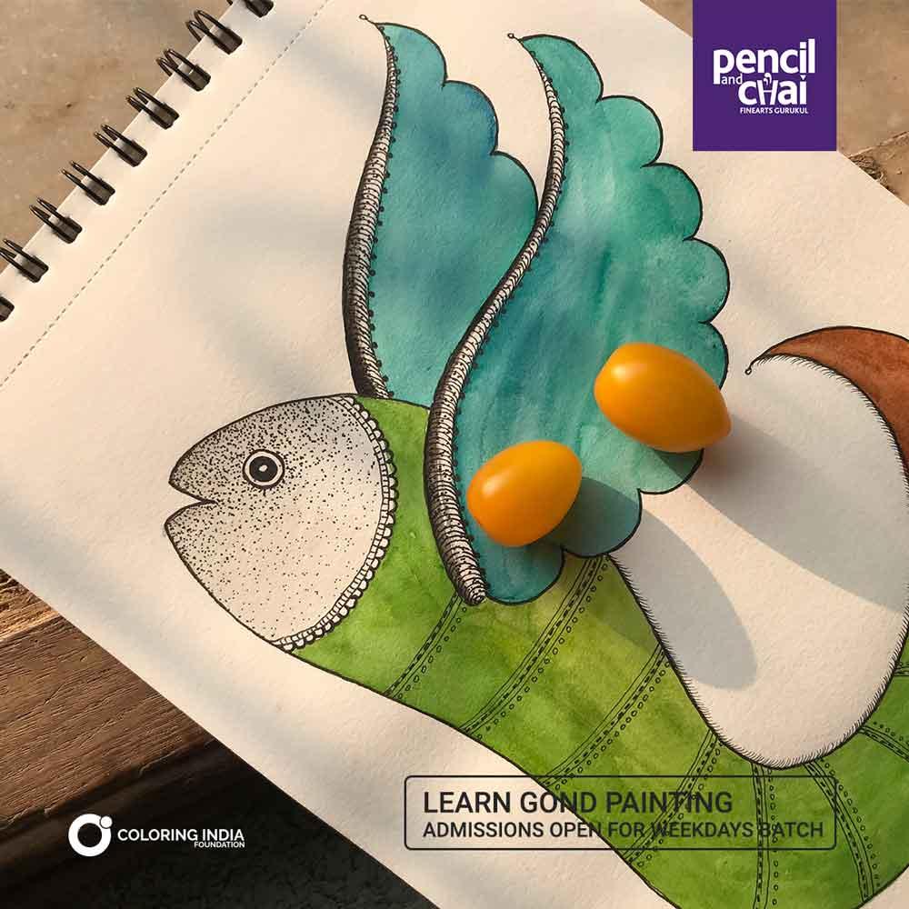 gond art classes - Gond art Classes by Pencil And Chai 2 - Gond Art Classes by Pencil And Chai