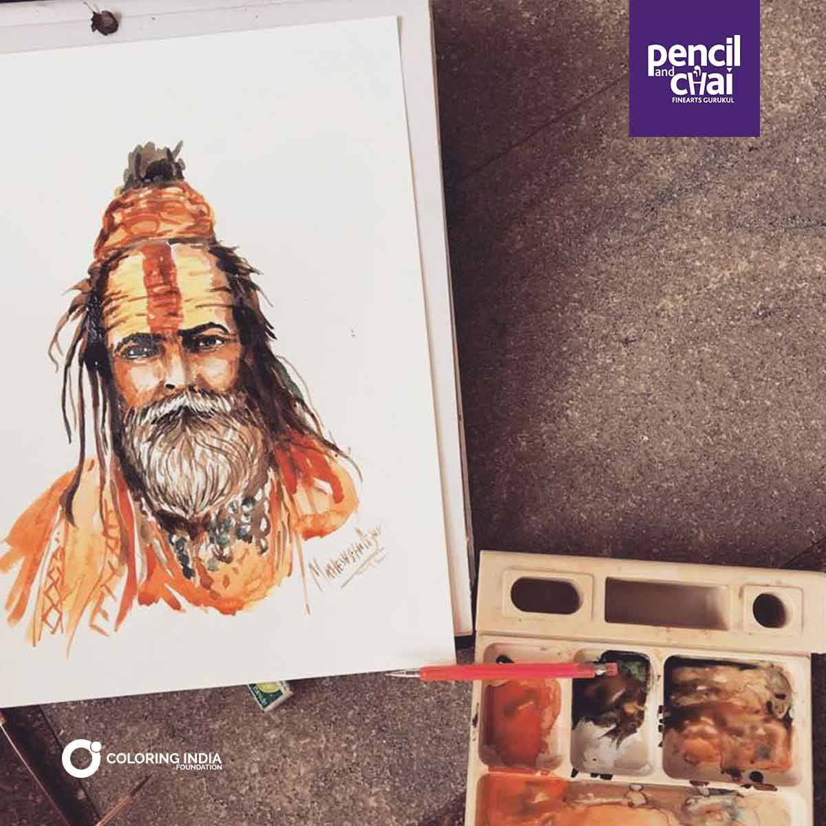 Watercolor painting classes by pencil and chai fine arts courses