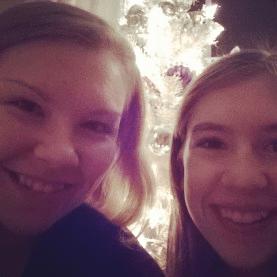 Me and Amanda on christmas Eve!