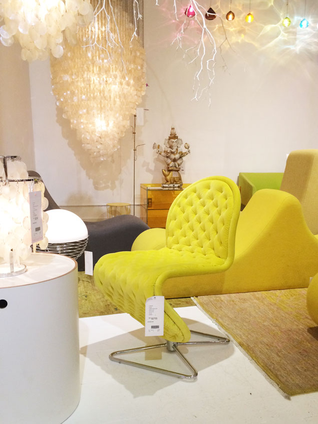 tufted yellow chair baby high chairs on sale velvet at abc carpet home in nyc pencil shavings studio www