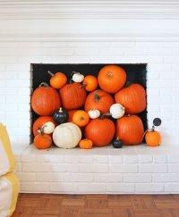 Fall Mantel Decor - Pumpkins in the Chimney - Pencil ...