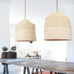 Kitchen Light Fixtures Pull Out Spray Faucet Rattan Pendants Are Having A Moment - Pencil Shavings ...