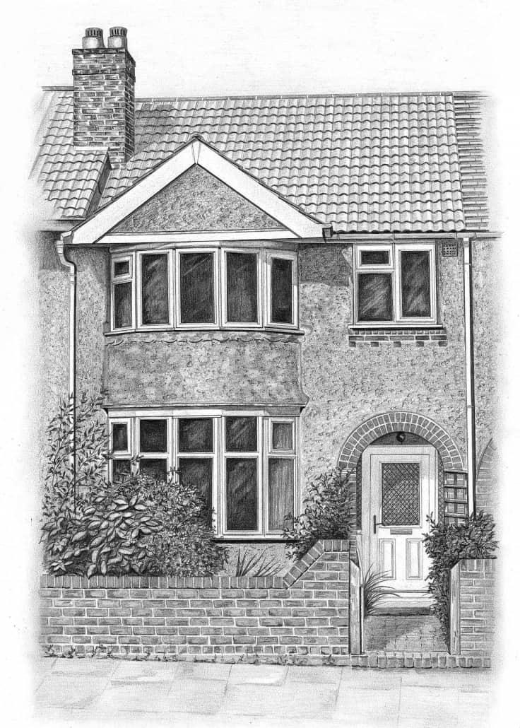 House Pencil Sketch : house, pencil, sketch, Building/House, Drawings, Angela, Pencil, Sketch, Portraits