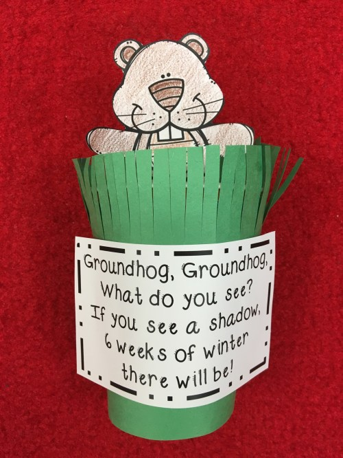 small resolution of Groundhog Day Crafts