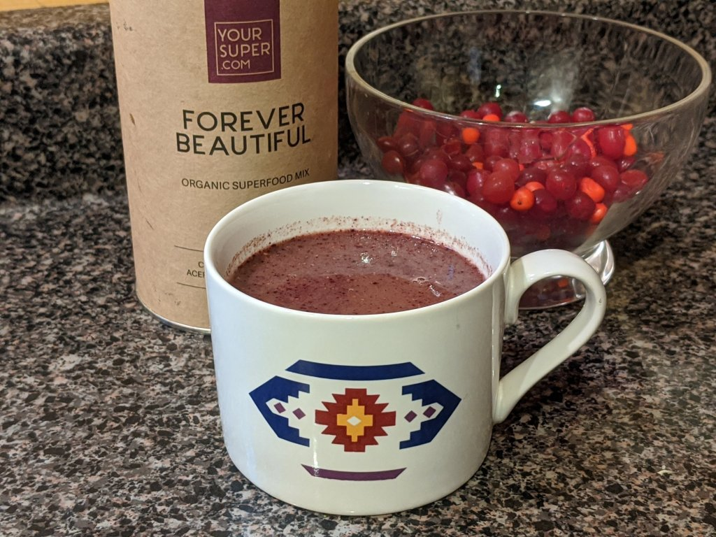 Your Super super food mixes taste great in warm autumn drinks.  .