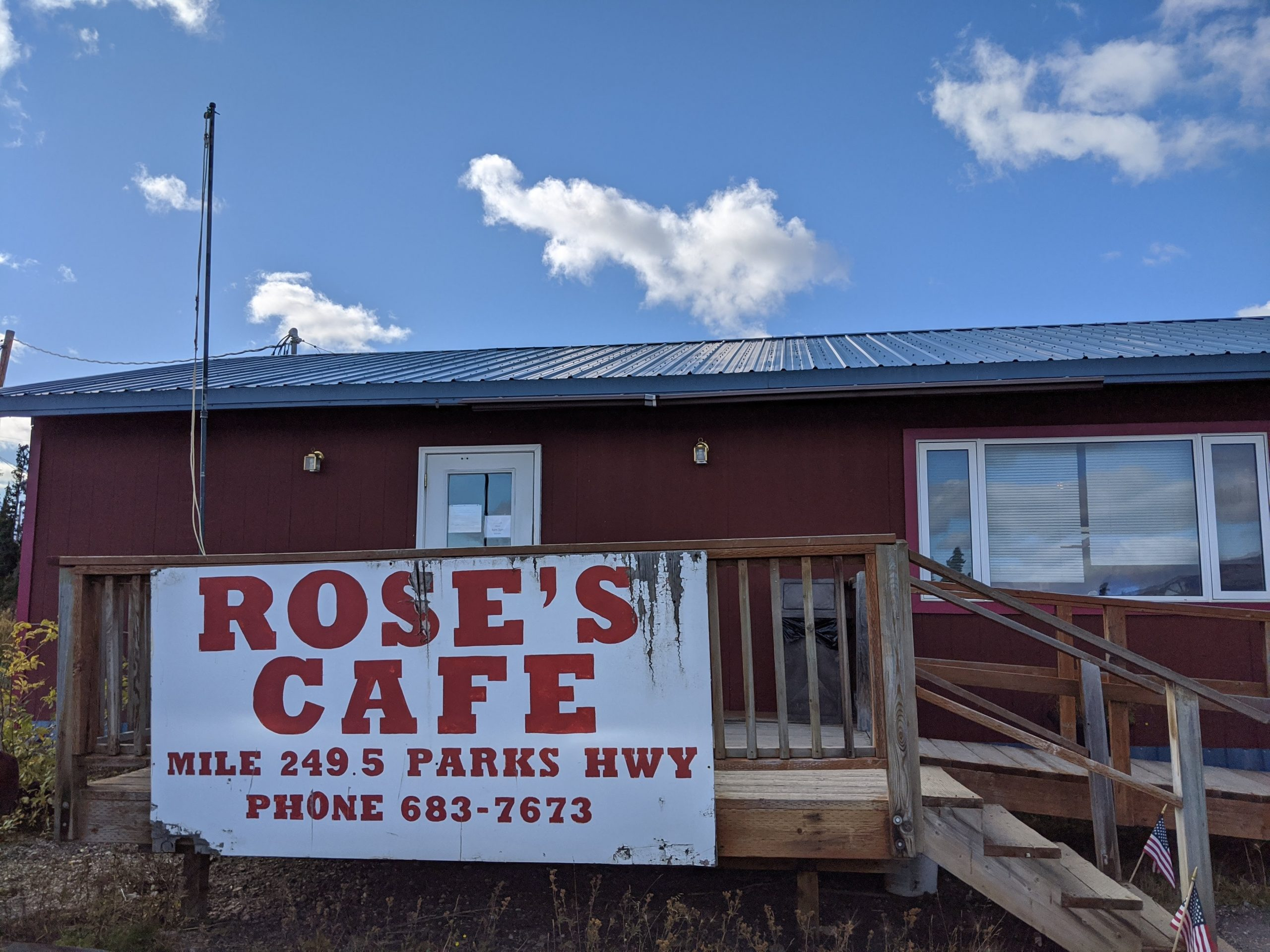 Rose's Cafe in Healy is a wonderful place to stop for food when visiting Denali National Park.