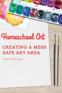Creating a mess free homeschool art area