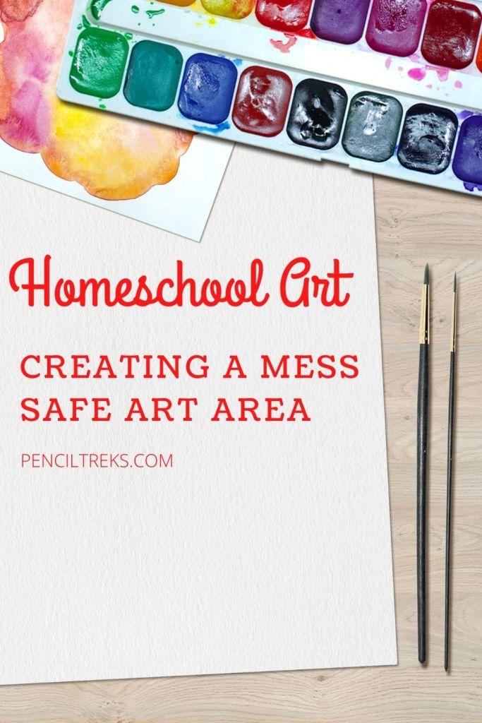 Creating a mess free homeschool art area
