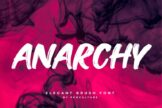 Last preview image of Anarchy Brush Font