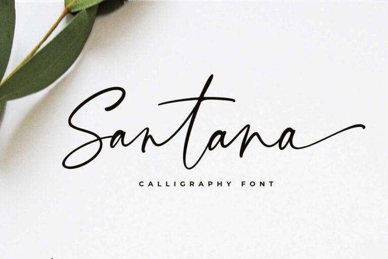 Santana Calligraphy Font