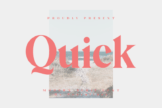 Last preview image of Quick – Modern Serif Font
