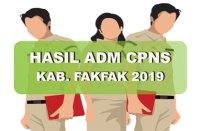 Hasil Seleksi Administrasi CPNS Kabupaten Fakfak 2019