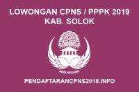 Lowongan ASN CPNS / PPPK / P3K Kabupaten Solok Tahun 2019