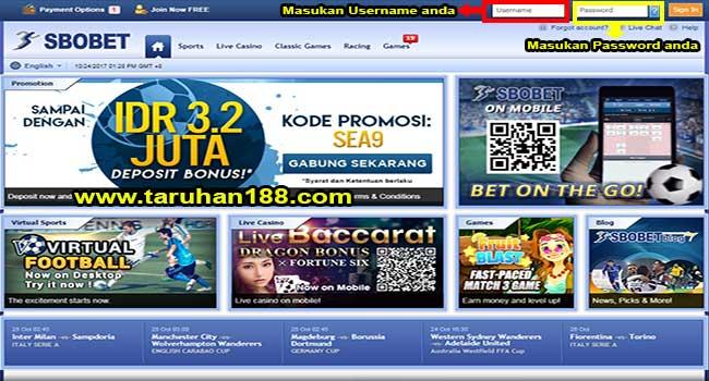 Tampilan Sbobet Casino