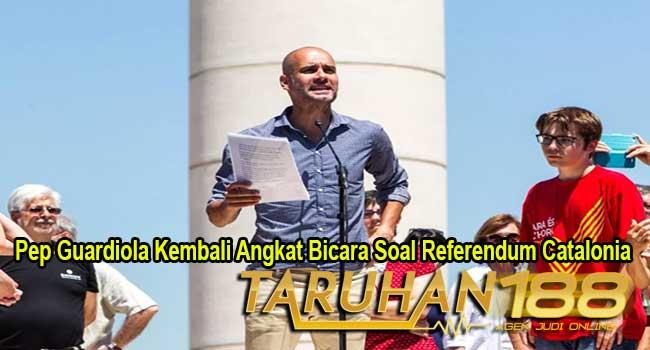 Pep Guardiola Kembali Angkat Bicara Soal Referendum Catalonia