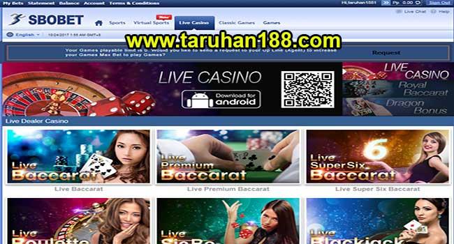 Pilih Permainan Sbobet Live Casino