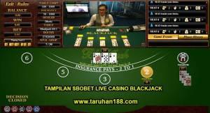 Tampilan Sbobet live Casino Blacjack - Tampilan Sbobet live Casino Blackjack