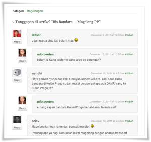 komentar portal blogger magelang