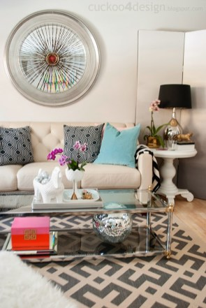 Who doesn't want a disco ball in their living room. Image via Cuckoo 4 Design