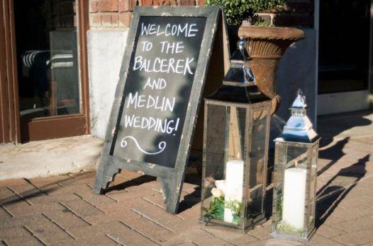 Wedding Reception Entryway
