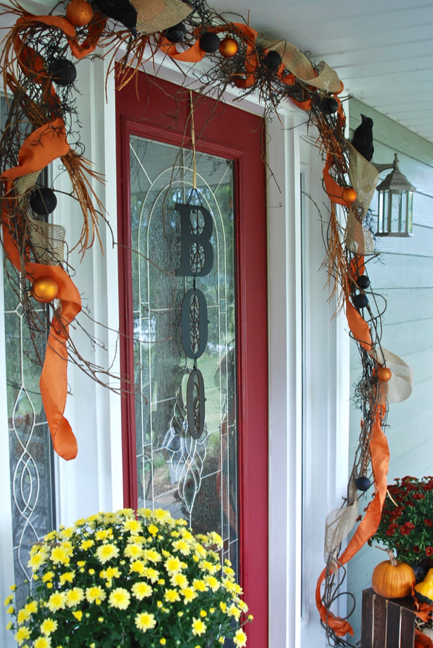 Fall Decor To Halloween Add A Little Spook To The Front Porch Pender Peony A Southern Blog
