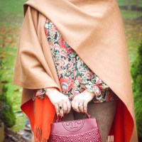 Orange Crush - Styling a Merino Wool Poncho