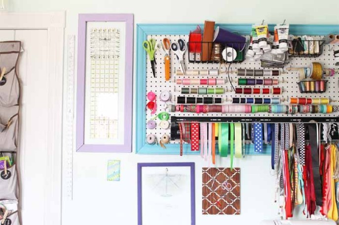I am in total awe of this lady's craft organization!