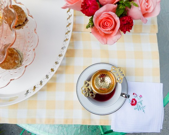 Brew a pot of tea and invite your kindred spirit to spend a lovely afternoon nibbling on delicious treats with a spring tea for two! #teafortwo #teaparty