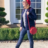 Red Loves Navy - Casual Fall Outfit