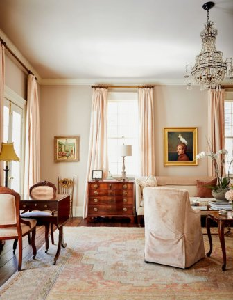 Blush Traditional interior via Garden & Gun - The Charming Index