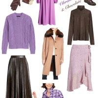 Fashion Color Story: Violet & Chocolate