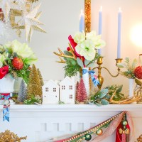 My Whimsical Christmas Mantel + DIY Garland