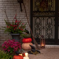 A Witchy Front Door for Halloween