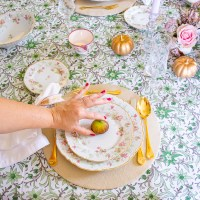 Pink & Green Fall Table