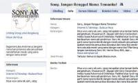 6.000 Facebooker Kecam Sony Corp Somasi Sony AK