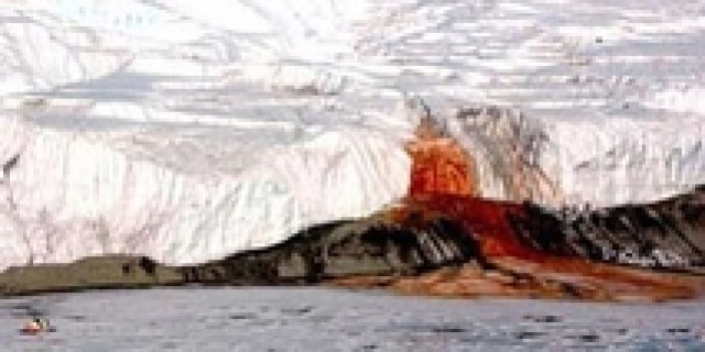 Bloody Mystery Glaciers in the Antarctic Continent