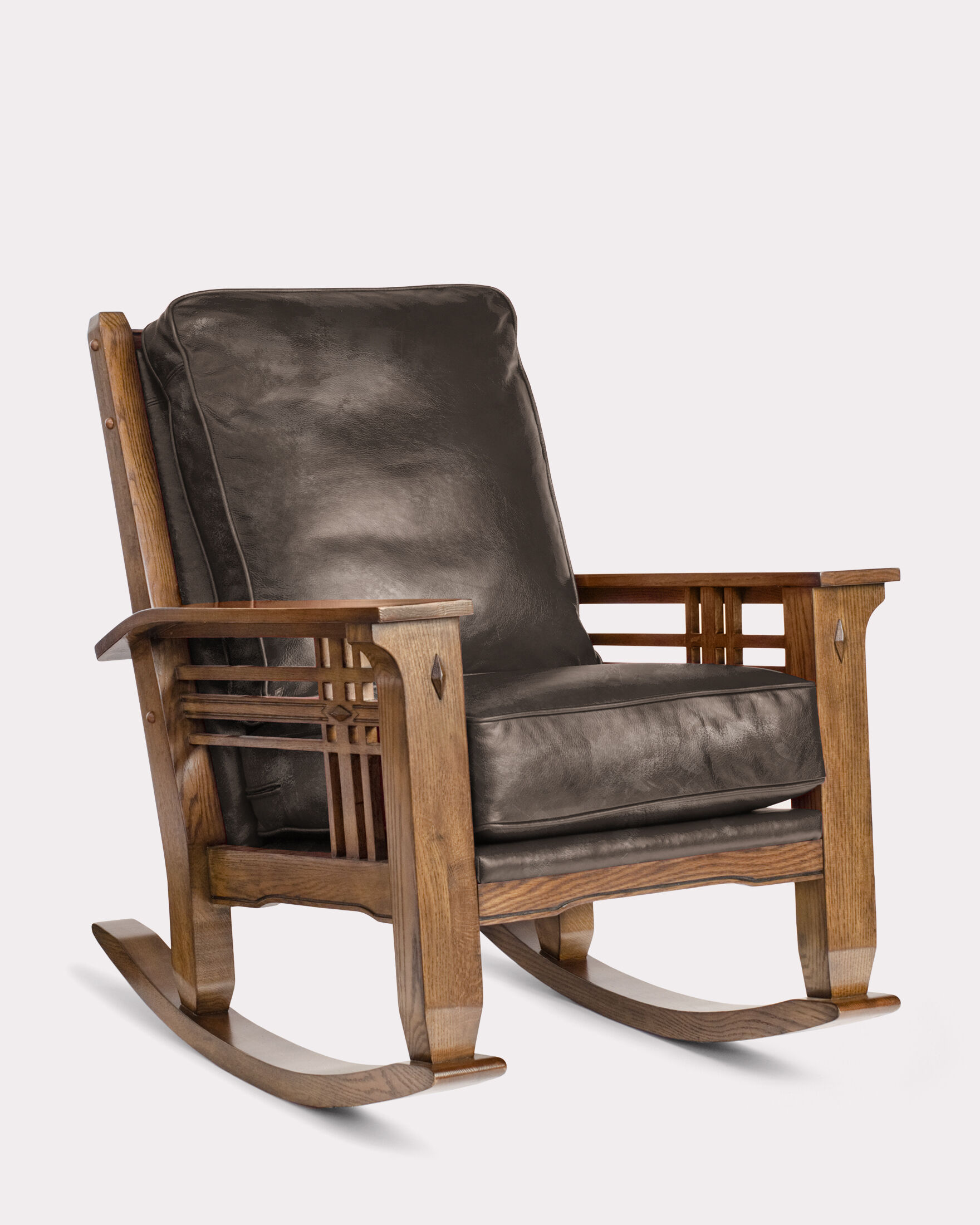 Leather Rocking Chair Stagecoach Leather Rocker