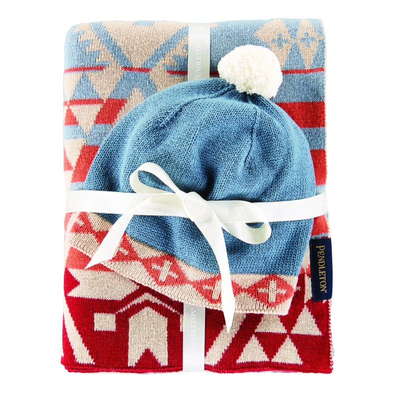Knit Baby Blanket and Hat Set - Canyonlands